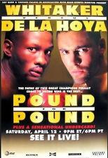 Original Oscar DeLaHoya vs. Pernell Whitaker Boxing Fight Poster