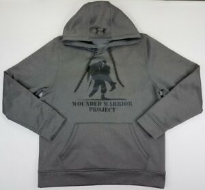 Under Armour Loose Fit X Storm 1 Wounded Warrior Project Gray Hoodie Men's M. B5