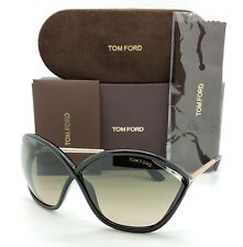 New Tom Ford Bella sunglasses FT0529/S 01B 71mm Black Gold Grey Gradient GENUINE