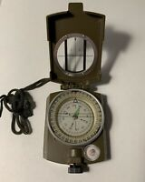 Professional Pocket Military Compass Metal Clinometer Hiking Sighting Camping