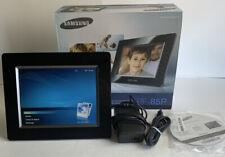 "Samsung SPF-85P 8"" Digital Picture Frame Box CD Works"