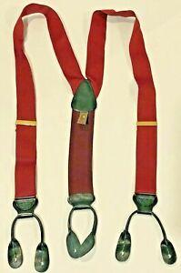 TRAFALGAR Men's Classic Hudson Red Suspenders Braces- Retails $62