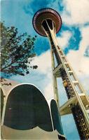 Chrome Postcard B449 Seattle Worlds Fair Space Needle Washington WA Mike Roberts