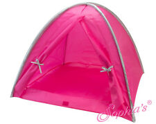"""Doll Clothes AG 18"""" Tent Pink and Silver Nylon Made To Fit American Girl Dolls"""
