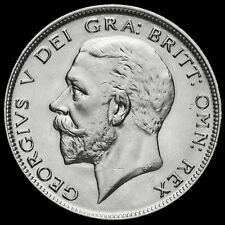 1929 George V Silver Half Crown, A/UNC