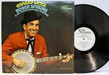 Rare Bluegrass LP- Roger Sprung - Grassy Licks - Verve Folkways # FV-9037- Promo
