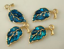 4pcs DIY Lot leaves Metal Charm Pendant Necklace Bracelet earring Jewelry fr3e