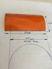 More details for orange curved glass for british railway 4 aspect oil hand lamp gc