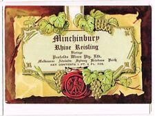 1930s Australia Penfolds Adelaide Minchinbury Rhine Reisling Label Tavern Trove