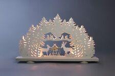ARCATA Mangiatoia lunghezza circa 52cm Nuovo LUCE Motivo Arco di luci Erzgebirge
