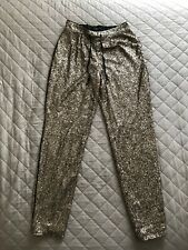 Ladies Next Gold Sequinced Trousers Size 10