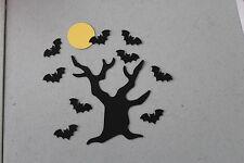 Sizzix Halloween Tree/Martha Stewart Bats & Stampin' Up! Moon Die Cuts