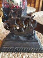 Vintage 1 Cast Iron Ship Bookend Or Door Stop Stamped A-69