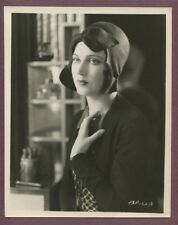 FAY WRAY Beuatiful Flapper Girl w/ Hat LINEN MOUNTED Art Deco Glamour Photo J723