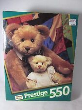 RoseArt Prestige 550 Piece Puzzle BEARS ON QUILT Sealed 1992 09550