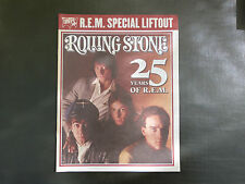 ROLLING STONE MAGAZINE- R.E.M. SPECIAL LIFTOUT - 25 YEARS OF R.E.M.
