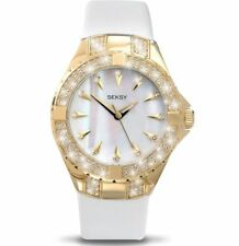 Sekonda Seksy Intense SWAROVSKI® ELEMENTS White Leather Strap Ladies Watch 4432