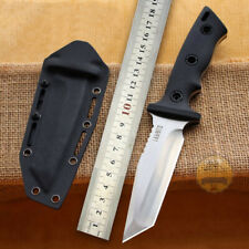 HIGH HARDNESS DC53 STEEL SHARP FIXED BLADE TACTICAL SURVIVAL HUNTING KNIFE KYDEX