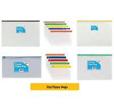 ZIP/ZIPPY BAGS - Organiser Folder Pocket Subject Storage Wallet {Tiger}