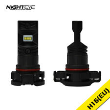 NIGHTEYE 160W 1600LM H16 LED Fog Light Bulbs DRL Replace Halogen Xenon White