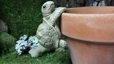Turtle pot hanger, for fairy gardens