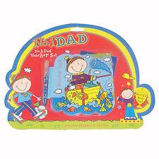 """Día del padre divertido """"no. 1 Dad"""" novedad Bono Libro con pegatinas y pluma"""