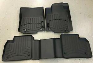 MERCEDES BENZ OEM Black All Weather Floor Mats Set of 3 W166 GL ML GLE GLS 13-19