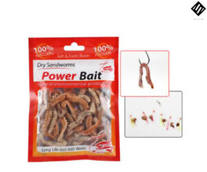 6g/10g Natural Dry Live Sand worms,Fishing Lures Smell Soft Bait Sea Fishing