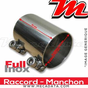 Raccord Manchon Tuyau de connexion Inox échappement diamètre 54 mm  Remus