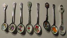 Vintage Souvenir Decorative Small Spoons LOT of 8 FN-/FN Toledo / Rock Island