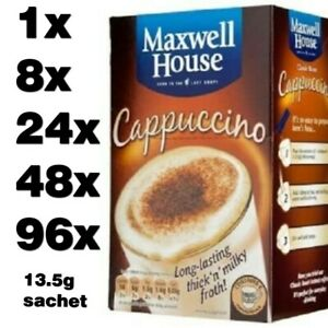 MAXWELL HOUSE CAPPUCCINO classic roast instant coffee (1 to 96 sachets)