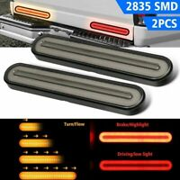 2pcs Car Truck 2835 SMD Turn Signal Stop Tail Strip DRL Lights Bar Brake Flowing