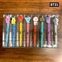 BTS BT21 Official Authentic Goods Gel Pen 8SET Sitting Ver 8SET + Tracking #