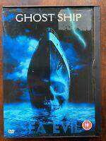 Ghost Ship DVD 2002 Horreur Film Largeur/Gabriel Byrne En Snapper Étui