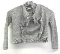 Chico's Women's Size 0 Cotton Blend Long Sleeve Open Front Cardigan Sweater