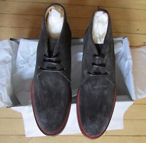 UGG Collection Italian Shoes Chukka Boot Orazio Leather Black Size 10