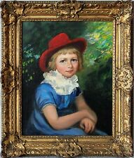 19th Century After George Henry Harlow 1787–1819 Portrait of Young Lady Red Hat