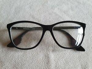 Alexander Mcqueen black / silver glasses frames. MQ0088O.