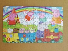 60 Pieces Wooden Jigsaw Puzzles In Box Peppa Pig Drawing Best Gifts for Kids