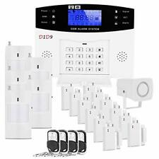 D1D9 Burglar Alarm System Wireless DIY GSM For Home House Security