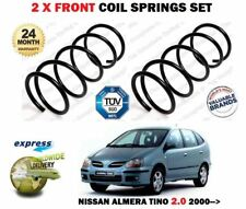 FOR NISSAN ALMERA TINO 2.0 V10 136BHP 2000-> NEW 2 X FRONT COIL SPRINGS SET