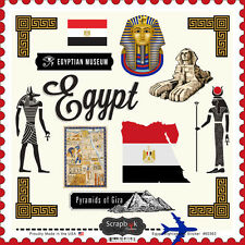 "SCRAPBOOK CUSTOMS EGYPT SIGHTSEEING TRAVEL 12""x12"" CARDSTOCK SCRAPBOOK STICKERS"