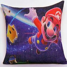 18'' Super Mario Space Children Kids Linen Throw Pillow Case Cushion Cover MC1