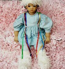 Annette Himstedt 27 in Nordic Native Eskimo Tribe Doll Human Hair Child Face Vtg