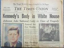 1963 JOHN KENNEDY ASSASSINATION NEWSPAPER SAT AM NOVEMBER 23 PM 23 SUN 24 MONDAY