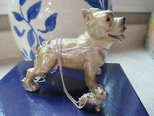 Lieutenant ~ The Pit Bull Terrier Enamel Box & Matching Necklace #62711