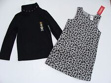 Gymboree Tres Fabulous Girls Size 4 Leopard Cheetah Jumper Dress Top NEW NWT
