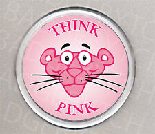 PINK PANTHER THINK PINK round drinks COASTER - RETRO CLASSIC!