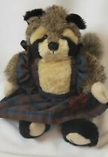 """Ganz Cottage Collectibles Raccoon 1996 By Lorraine 8"""" Stuffed Animal Plush"""