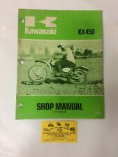 Used 1974 Kawasaki Kx450 Motorcycle Shop Manual Oem 99995-450 (Fits: Kawasaki)